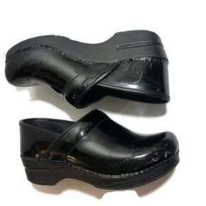 Dansko Patent Leather Clogs Size 38